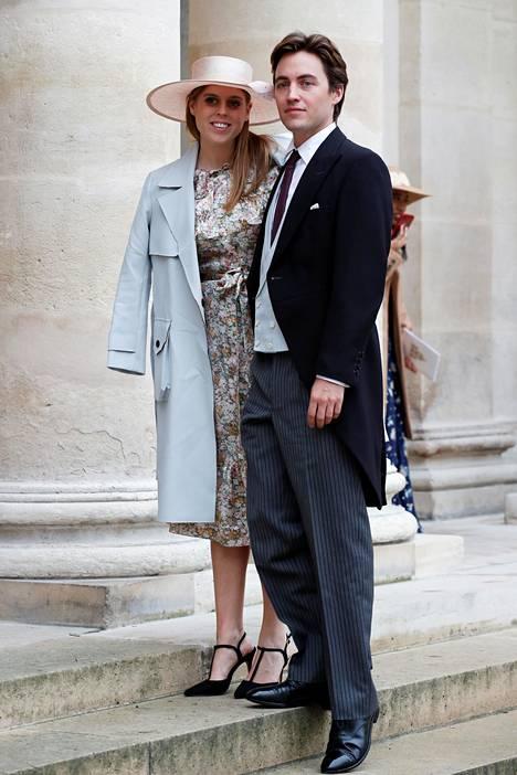 Prinsessa Beatrice ja Edoardo Mapelli Mozzi julkistivat kihlauksensa viime syksynä.