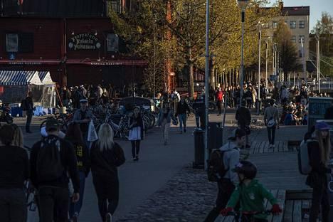 Näkymä Oulun Torinrannasta lauantaina 30.5.