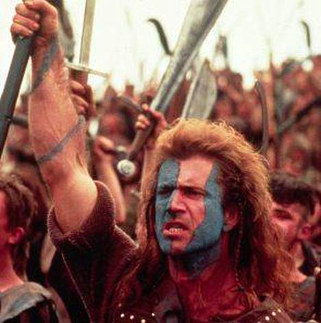 Mel Gibson on William Wallace.