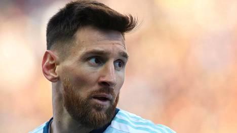 Lionel Messi kuvattuna jalkapallon Copa America -turnauksessa, jossa Argentiina voitti pronssia.
