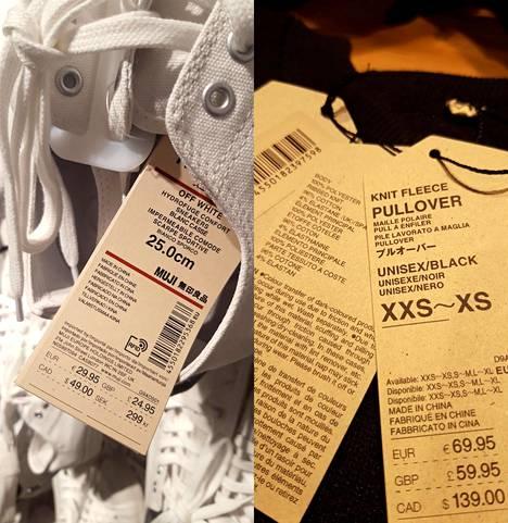 Mujilla on Kiinassa ainakin vaatteiden ja jalkineiden tuotantoa.