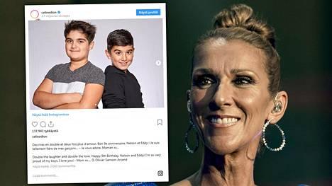Celine Dionin kaksospoikia ei juuri nähdä julkisuudessa.