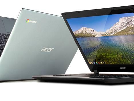 Googlen kouluille toimittamissa Chromebookeissa on synkronointi päällä. Chomebook-laitteita valmistaa muun muassa Acer. Kuva ei liity tapaukseen.