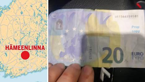 Hämeenlinnan busseista on löydetty väärennettyjä seteleitä.