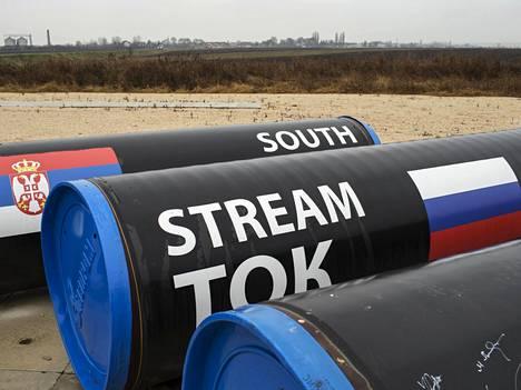 Kaasuputkia Serbiassa vuonna 2014 ennen kuin South Stream -projekti peruttiin.