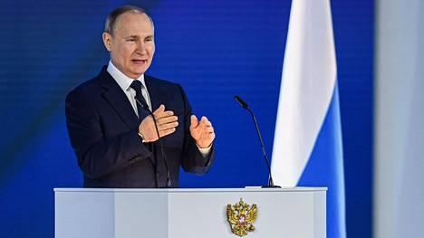 Vladimir Putin puhui Venäjän valtaeliitille keskiviikkona.