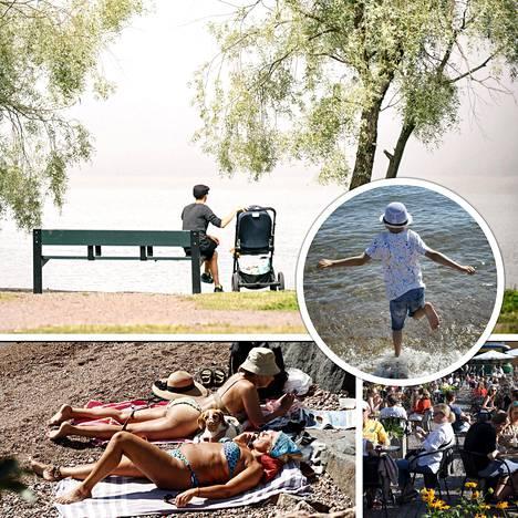 Tänä viikonloppuna suomalaiset saavat ehkä nauttia helteistä viimeistä kertaa tänä kesänä.
