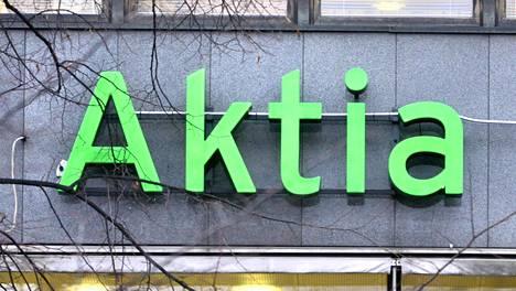 Aktian logo Helsingissä.