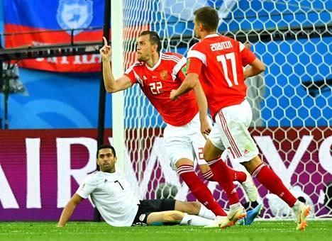 Venäjä on tehnyt kahdessa pelissään yhteensä kahdeksan maalia.