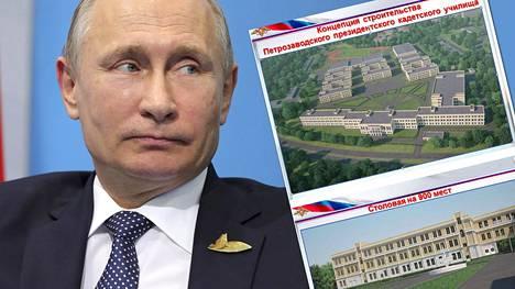 Putin pistäytyy Petroskoissa katsomassa rakennustyömaata ennen Suomeen tuloaan.