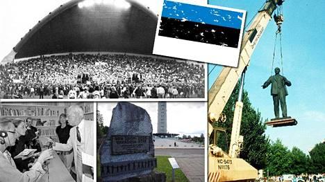 Laulava vallankumous johti Viron uudelleenitsenäistymiseen 20.8.1991.
