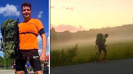 Jussi Kallioniemi juoksi itsensä Guinnessin ennätyskirjaan.