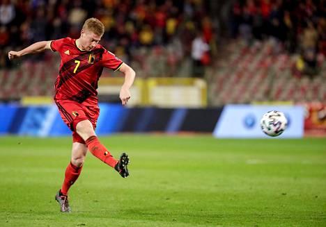 Belgian Kevin De Bruyne on yksi maailman parhaista keskikenttäpelaajista.