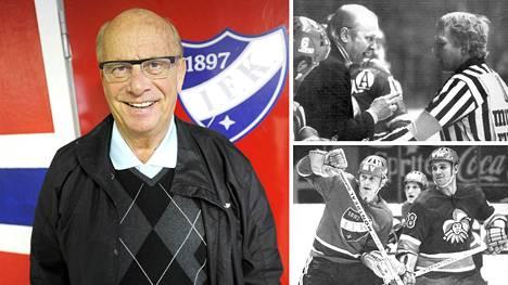 Matti Väisänen on tehnyt pitkän ja monipuolisen uran jääkiekon parissa. HIFK:n valmentajana hän ripitti erotuomari Eino Honkasta vuonna 1977. HIFK:n puolustajana Väisänen kohtasi mm. Jokerien Pertti Nurmen vuonna 1969. Vuonna 2017 Väisänen palasi tutun pukukopin ovelle.