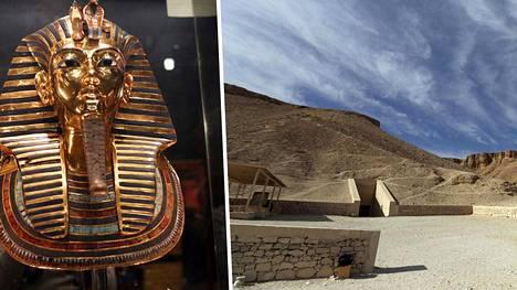Tutankhamonin hauta on Egyptissä Kuoleman laaksossa.