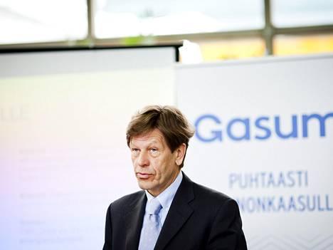Kuvassa Gasumin toimitusjohtaja Antero Jännes.
