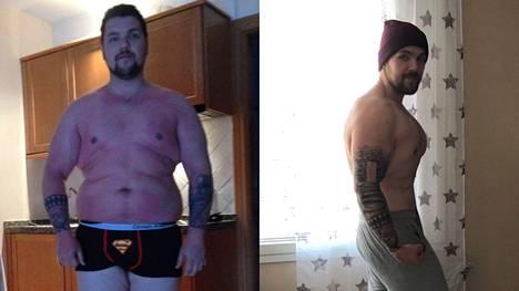 """Juuso, 29, opetteli juomaan vettä ja laihdutti yli 40 kiloa: """"Voin katsoa peiliin ja sanoa että perhana!"""""""