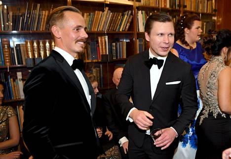 Jasper Pääkkönen (vas.) ja Eero Milonoff
