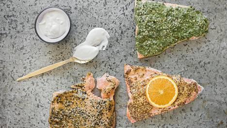 Valitsetko uunilohelle appelsiini-sinappitäytteen, miso-seesamitäytteen vai salsa verdeä? Muista myös kaupassa oikeanlaisen kalan valinta.