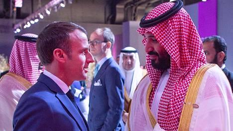 Emmanuel Macron ja Mohammad Bin Salman kohtasivat Argentiinassa.