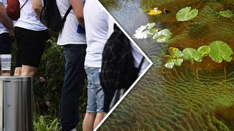Pissaamisella voi olla ikäviä seurauksia vesistöissä.
