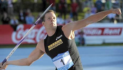 Tero Pitkämäki heitti Lappeenrannassa 79,37 metriä.