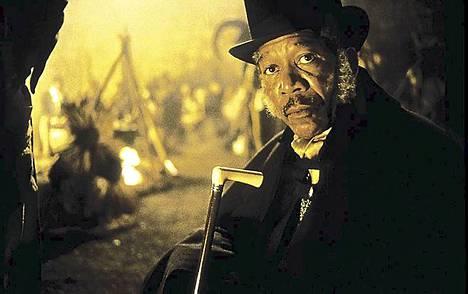 Morgan Freeman elokuvassa Amistad.