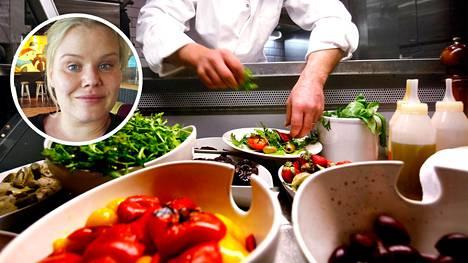 Huomattava osa ravintola-alan työntekijöistä tekee töitä osa-aikaisena.