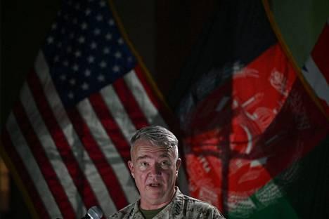 Yhdysvaltain asevoimien sotatoimialueen päämajaa johtava kenraali Kenneth McKenzie myönsi, että joukkojen lähtö on kova pala Afganistanin hallinnolle.