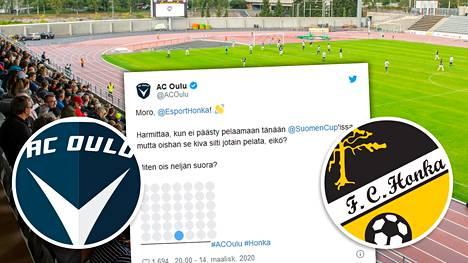 """AC Oulun ja Hongan ottelulle keksittiin korvaava """"ottelutapahtuma""""."""