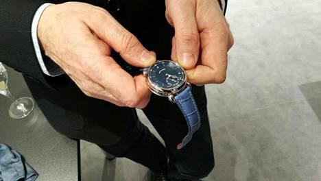 Voutilaisen kellot olivat esillä SIHH-kellomessuilla Genevessä tammikuussa 2017.