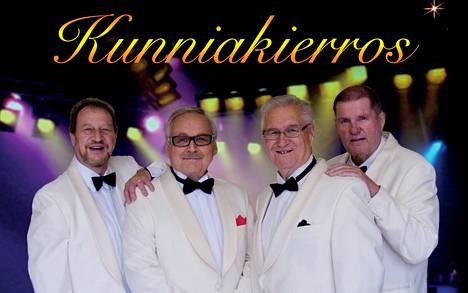 Kivikasvot nykykokoonpanossaan: vasemmalta Henrik Lamberg, Ismo Sajakorpi, Vesa Nuotio ja Fredi.