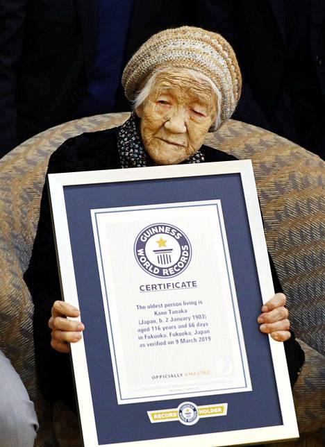 Kane Tanaka rikkoi viime vuoden maaliskuussa Guinnessin maailmanennätyksen.