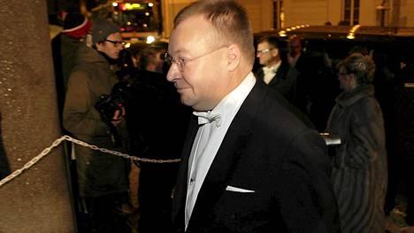 Nokian toimitusjohtaja Stephen Elop oli kutsuvieraiden joukossa Linnan juhlissa 2012.