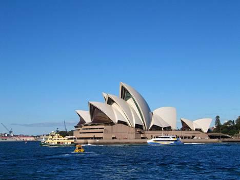 Sydneyn oooperatalo on kuuluisa nähtävyys.
