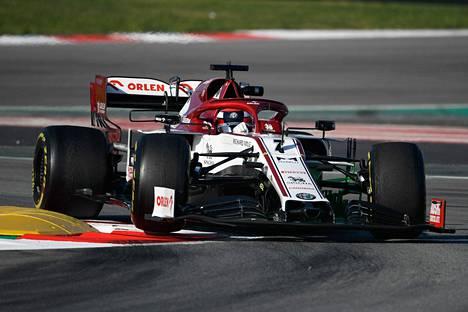 Kimi Räikkönen kuvattuna Barcelonassa 2020.