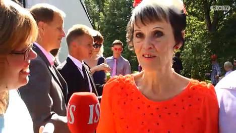 Mirja Talonpoika Matti Nykäsen ja Pia-vaimon häissä 2014.