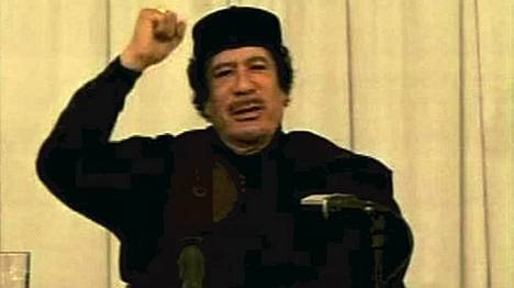 Gaddafi puhui vastikään kannattajilleen Libyan televisiossa.