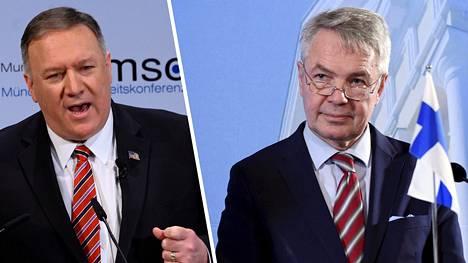 Ulkoministerit Mike Pompeo ja Pekka Haavisto.