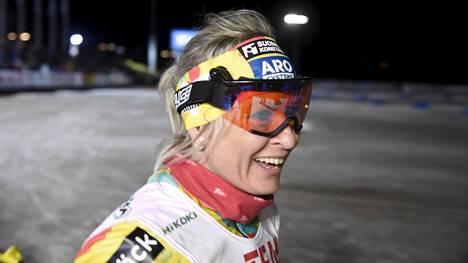 Riitta-Liisa Roponen palasi kotimaan laduille Vantaan Suomen cupissa. Hän oli naisten kisan viides.