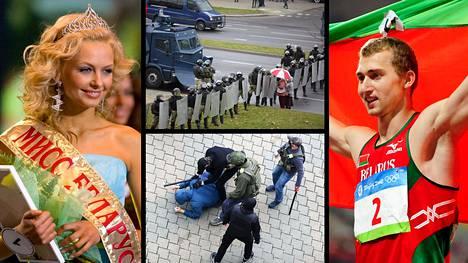 Muun muassa Miss Valko-Venäjä Olga Hizhinkova ja yleisurheilun olympiahopeamitalisti Andrei Krautshanka pidätettiin yli 800:n muun ohella sunnuntaina.