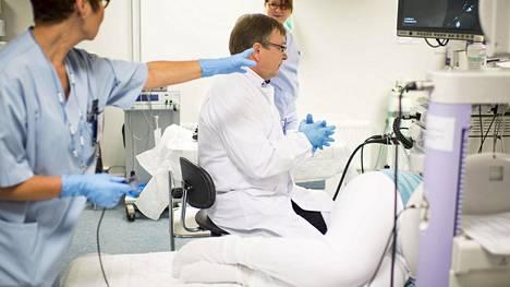 Paksusuolen tähystys on tärkein menetelmä suolistosyövän toteamiseksi tai poissulkemiseksi. Arkistokuva.