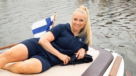 Pippa Laukka osallistui Finntriathlon-kilpailuun.
