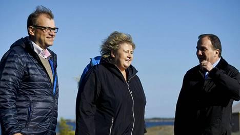Pääministeri Juha Sipilä, Norjan pääministeri Erna Solberg ja Ruotsin pääministeri Stefan Löfven tapaavat Ahvenanmaalla.