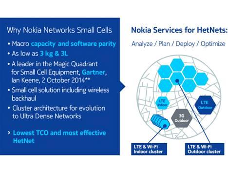 Nokian piensolutukiasemassa on langaton runkoverkkoyhteys.