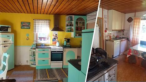 Tanja osti vanhan rintamamiestalon. Keittiö oli huonossa kunnossa, joten remontti oli tarpeen.