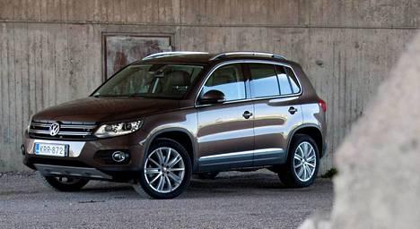 Vähiten liikennevahinkoja osui Volkswagen Tiguanien kohdalle.