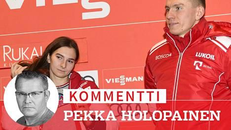 Venäjän huippuhiihtäjät Aleksandr Bolshunov ja Natalja Neprjajeva ovat kotimaassaan isoja tähtiä.