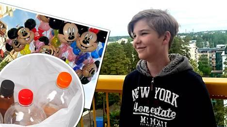 Joonan unelma matkasta Disney Worldiin toteutuu kovan työn ansiosta.
