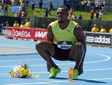 Usain Bolt on juossut tällä kaudella kolme 200 metrin starttia. Kertaakaan hän ei ole alittanut 20 sekuntia. Kuva on New Yorkin Timanttiliigasta kesäkuulta.